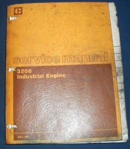 Cat Caterpillar 3208 Industrial Engine Service Shop Repair Manual Book 3z1 up