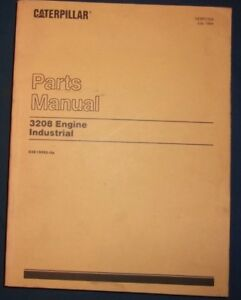 Cat Caterpillar 3208 Industrial Engine Parts Manual Book S n 03z10093 up