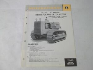 International Harvester Td 15 Diesle Crawler Manual