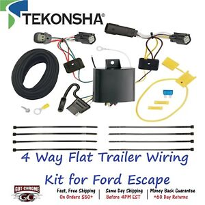 118715 Tekonsha T one 4 Way Flat Trailer Wiring Connector Kit For Ford Escape