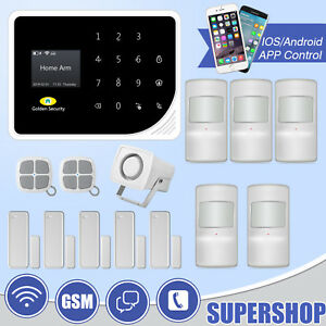 S5 Wifi Gsm Sms Wireless Door Sensor Motion Detector Home Security Alarm System