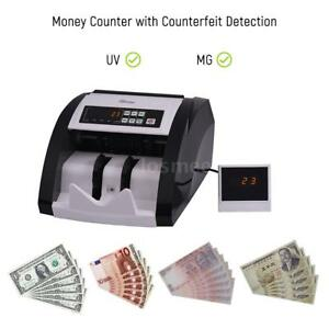 Money Bill Cash Counter Bank Currency Counting Machine Uv Mg Counterfeit Us