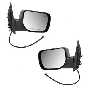 Set Of Side Power Single Arm Mirrors Heated For Qx56 Armada Titan Pickup Truck