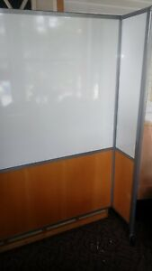 T Shaped Mobile Double Sided Dry Erase Whiteboard Easel Room Divider 5 Foot Tall