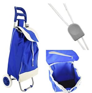 Shopping Cart Trolley Bag Grocery Trolley 37 33 Lb Load Capacity Blue red