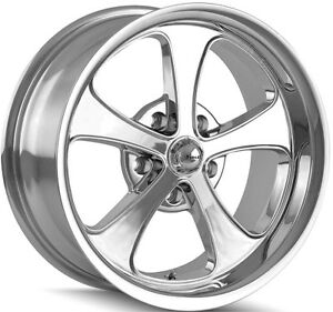 Staggered Ridler 645 Front 17x7 rear 17x8 5x4 75 0mm Chrome Wheels Rims