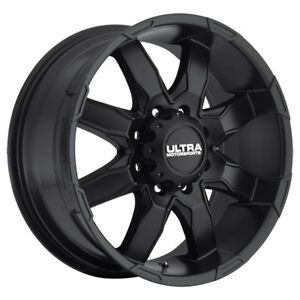 4 16 Inch Ultra 225sb Phantom 16x8 8x165 1 8x6 5 10mm Satin Black Wheels Rims