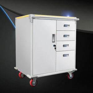 Heavy Duty Rolling Storage Cabinet Garage Toolbox 4 Drawers Mobile Stationary