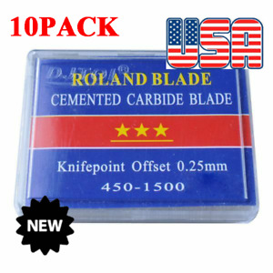 10x 5pcs pack 45 Degree Small Roland Vinyl Cutter Compatible Blades N Grade