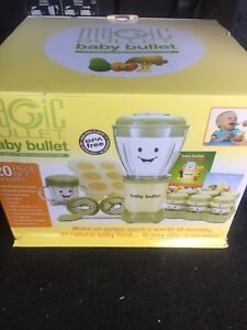Magic Bullet Baby Bullet 20pc Set The Complete Baby Food Making System USED