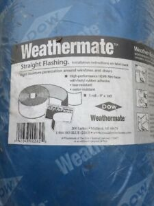 Dow Weathermate Straight Flashing Roll 9 x100 New Sealed 100 Fb