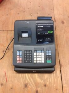 Sharp Xe a206 Electronic Cash Register Tested Works Good