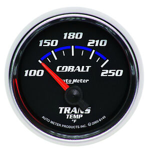 Auto Meter Cobalt 2 1 16 52mm Electric Transmission Temp Gauge 100 250 Deg F