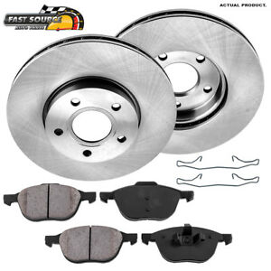 Front Brake Disc Rotors And Ceramic Pads For Ford Focus C Max Volco C30 S40