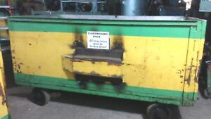 Heavy Duty Steel Industrial Tug Tractor Tow Gondola Cart Interior 8ft X 4ft X 4