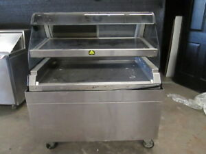 Alto Shaam Ed2 48 2s Dual Level Self Serve Hot Food Warmer Display Case