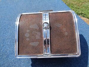 1966 66 Buick Wildcat Rear Seat Speaker Grill With Emblem
