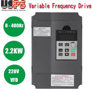 2 2kw 3hp Vfd Three Phase 220v 0 400hz Variable Frequency Drive Inverter Us