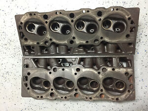 3917215 Big Block Chevy 396 427 Oval Port Cylinder Heads Dated K 2 7 F19 7