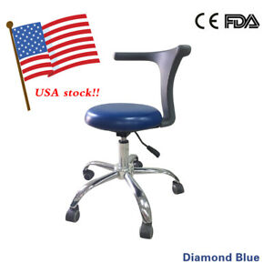 Dental Adjustable Doctor Nurse Assistant Stools Chair Pu Leather For Surgical