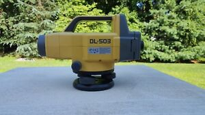 Topcon Dl 503 Digital Level With Barcode Rod staff