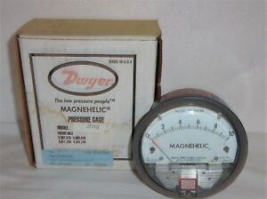 Dwyer Magnehelic 2010 Pressure Gauge 15 Psig Max Inches Of Water New In The Box