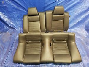 Black Leather Rear Seat Coupe Ford Mustang Gt 10 11 12