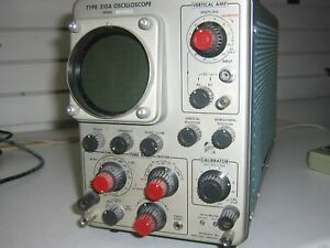 Vintage Tektronix 310a Tube Type Oscilloscope shelf 08r