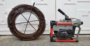 Ridgid K 60 Sectional Drain Cleaning Machine W Snake great Shape