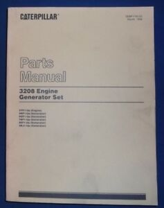 Cat Caterpillar 3208 Generator Set Engine Parts Book Manual S n 5yf1 up