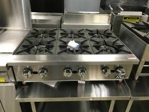 New 36 Hd 6 Burner Heavy Duty Commercial Countertop Gas Hot Plate Nat lp Gas