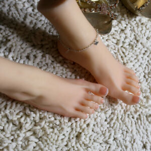 Realistic Silicone Feet Lifesize Female Leg Mannequin Display Left Right Feet