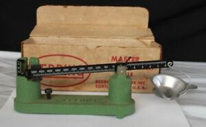Vintage Redding Model No. 2 Master Powder and Bullet Scale for Reloading w Box