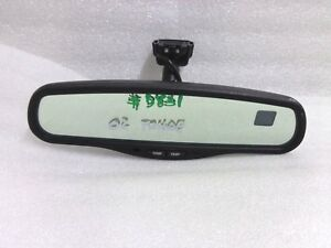 1999 2002 Gmc Tahoe Suburban Silverado Yukon Rear View Mirror Compass Temp 26a