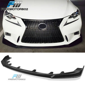 Fits 14 16 Is250 Is300 Is350 F Sport Only Ikon Style Front Bumper Lip Black Pp