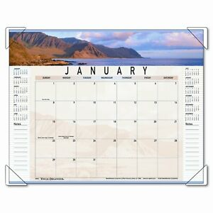 At a glance Panoramic Landscape Monthly Desk Pad Calendar