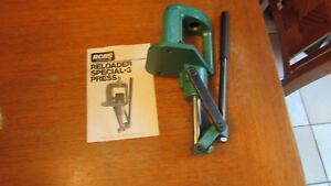 RCBS RS3 RELOADING PRESS