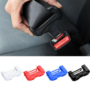 2x Universal Car Seat Belt Buckle Silicone Cover Clip Anti Scratch Cover 4colors