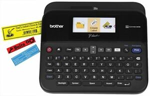 Brother P touch Label Maker Pc connectable Labeler Ptd600 Color Display Black