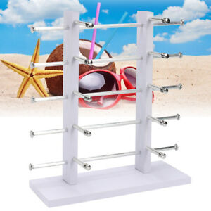 6 8 10 12 Pair Sunglasses Glasses Rack Retail Display Stand Holder White black