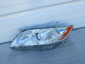 2007 2008 2009 Toyota Camry Left Driver Oem Chrome Headlight 07 08 09 Nice