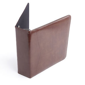 Royce Leather Brown Leather 2 inch Executive D ring Binder