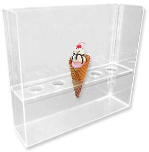 Old World Cone 5 hole Waffle Cone Ice Cream Stand holder display