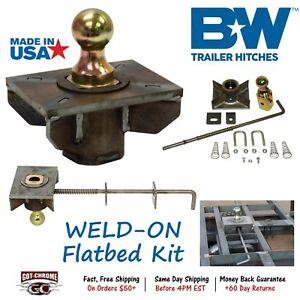 Gnrk1500 B W Turnoverball Universal Weld On Flatbed Gooseneck Hitch Ball