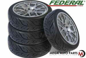 4 New Federal 595rs rr 205 50zr15 89w Ultra High Performance Tires