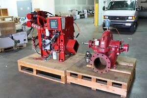 Cummins Firepower Mod Cfp5e f40 A c Fire Pump Split Case 3934 2000 Gpm 15hrs