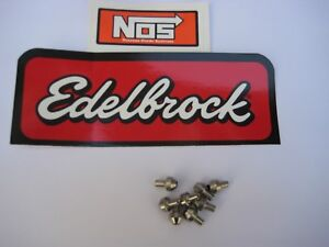 8 Edelbrock Nos Holley Stainless Steel Nitrous Jets Size 044 New Great Deal