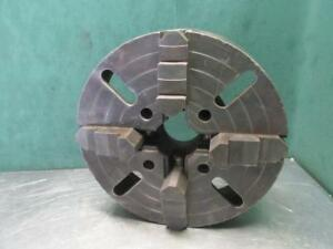 Cushman 1414 Metal Lathe Chuck 14 Dia Independent 4 Jaw Plain Back