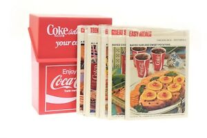 Coca Cola 1970's Recipe Box With Six Recipe Cards