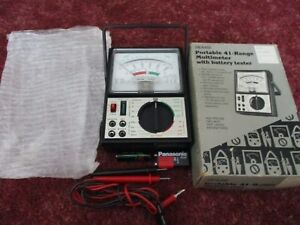 Sears Portable 41 range Multimeter With Battery Tester 9 460 5205 w cable